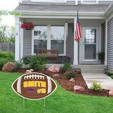 Football Shaped Team Player Fence Yard Signs