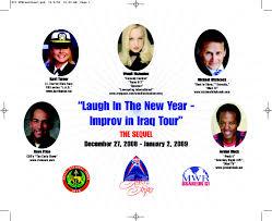 New Years Eve Comedy Tour – Military Tour – Kuwait / Iraq – Judy Seale  International