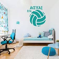 Volleyball Wall Decal Sports Gifts Personalized Ball