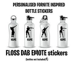 Personalized Water Bottle Vinyl Decal Sticker Fort Night Floss Inspired 1 89 Picclick Uk