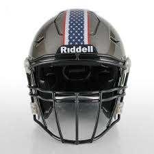 American Flag Football Helmet Stripe Style 3 Healy Awards