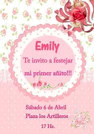 Tarjeta Invitacion Primer Ano Personalizada Imprimible 150 00