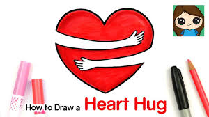 how to draw a love heart hug symbol 2
