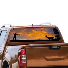 Perforated Decals Nissan Navara Rear Window Sticker 2012 Present