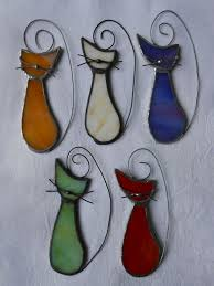 cat kitty suncatcher stained glass