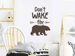 Amazon Com Story Of Home Llc Don T Wake The Bear Wall Decal Nursery Wall Decal Kids Room Wall Decal Nursery Wall Sticker Kids Room Wall Sticker Vinyl Wall Decal Home Kitchen