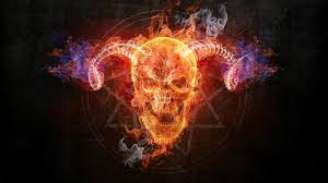 flaming skull wallpapers on wallpaperplay