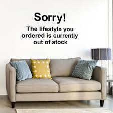 Banksy Wall Decal Sorry The Lifestyle You Ordered Is Etsy
