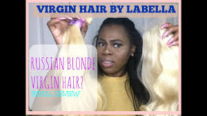 virgin hair by labella russian blonde