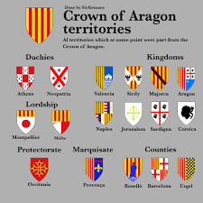 Crown of Aragon territories : heraldry