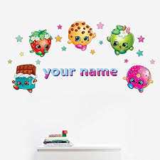 Personalized Shopkins Kids Name Wall Dec Buy Online In Trinidad And Tobago At Desertcart