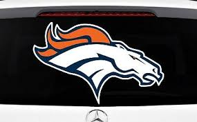 Denver Broncos Sticker Decal Vinyl Set Of 2 Cornhole Truck Car