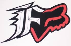 Fox Racing Red And Black F W Head Decal