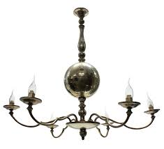 french mid century silver chandelier
