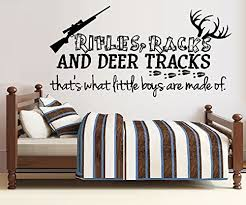 Rifles Racks And Deer Tracks That S What Little Boys Are Made Of 8 Wall Decal 20 X 40 Baby B00nya2rxq