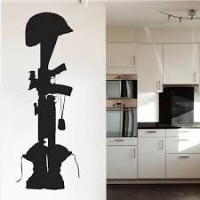 Special Memorial To Fallen Comrade Wall Sticker Special Silhouette Wall Decals Mural Home Bedroom Creative Decor Decal M 84 Wall Sticker Wall Decalssilhouette Wall Sticker Aliexpress