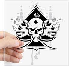 Amazon Com Cafepress Ace Of Spades Skull Square Sticker 3 X 3 Square Bumper Sticker Car Decal 3 X3 Small Or 5 X5 Large Home Kitchen