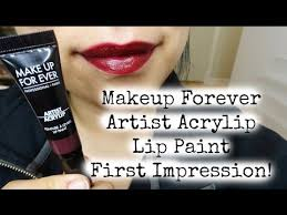 new makeup forever acrylip lip paint