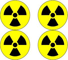 Amazon Com Nuclear Radiation Warning Symbol Sign 4 Pack Hazard Radioactive Bumper Window Sticker 4 Round Car Decal Automotive