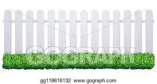 Vector Art White Fence With Grass Wooden Picket Background Isolated Farm Garden Barier Illustration Clipart Drawing Gg118616132 Gograph