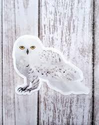 Snowy Owl Sticker Harry Potter Laptop Decal Hedwig Harry Etsy In 2020 Harry Potter Stickers Owl Stickers Harry Potter Owl