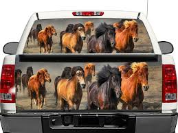 Product Animal Herd Horse Rear Window Or Tailgate Decal Sticker Pick Up Truck Suv Car Rear Window Decals Rear Window Horse Rearing