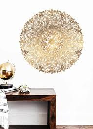 Large Gold Mandala Wall Art Decal Wall Sticker Wall Decor Home Studio Bedroom Design Decal Home Decorations Gold Rose Removable In 2020 Wall Decals Wall Decor Stickers Decal Wall Art
