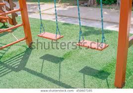 wooden swing set chain swings on stock