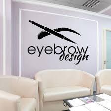 Vinyl Wall Decal Eyebrow Beauty Salon Logotype Brow Art Stickers 2584 Wallstickers4you