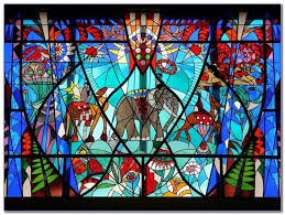 stained glass window design home