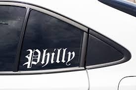 Philly Philadelphia Pennsylvania Local Native Home City Etsy In 2020 Window Art Art Gift Vinyl Decal Stickers