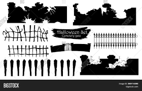 Spooky Cemetery Gate Vector Photo Free Trial Bigstock
