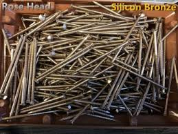 65mm silicon bronze rose head nails 2kg