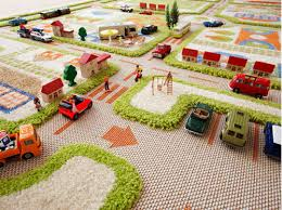 three dimensional rug for the playroom