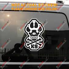 K9 K 9 Police Dog Unit Skull Decal Sticker Car Vinyl Reflective Glossy Pick Size Car Stickers Aliexpress