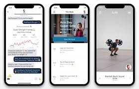 a real life personal trainer in an app