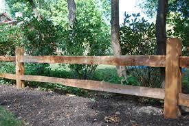 Fitzgerald Fence Inc Rail Fence Western Red Cedar Split Rail