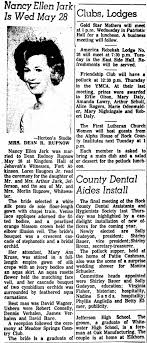 Nancy Ellen Jark is Wed May 28 - Newspapers.com