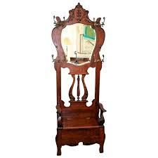 vintage hall tree throne style tiger