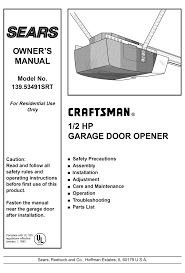 craftsman 139 53491srt owner s manual