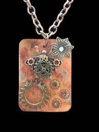 steampunk copper tray 6 necklace bug