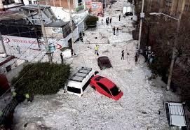 freak hailstorm that hit mexican city