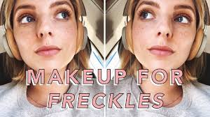 summer freckle friendly makeup routine