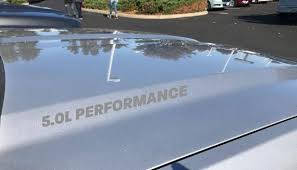 5 0l Performance Hood Decal Stickers Logo Emblem Ford F150 Etsy
