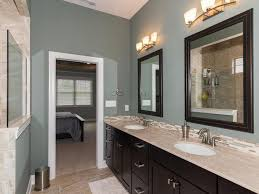 transitional master bathroom with