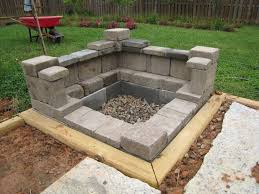 cement block fire pit home and interior