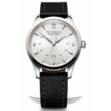 40mm steel case silver dial leather