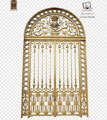 Gold Gate Illustration Iron Iron Gate Window Medieval Architecture Png Pngegg