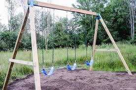 how to build a wooden swing set the