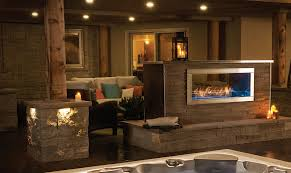 galaxy see thru outdoor gas fireplace